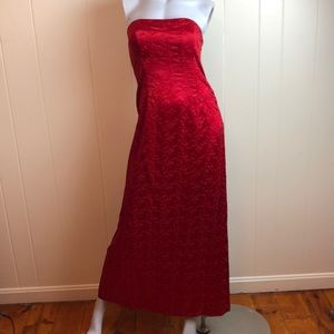 Vintage 80s/90s Red Sleeveless Sexy Party Dress